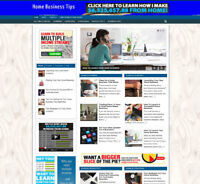 HOME BUSINESS TIPS STORE / WEBSITE WITH AFFILIATES - FREE DOMAIN - PRO DESIGN