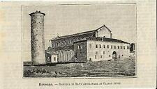 Stampa antica RAVENNA Sant' Apollinare in Classe Romagna 1891 Old antique print