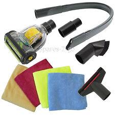 UNIVERSAL Car Valeting Mini Turbo Valet Brush Hoover Tool Kit Vacuum + 4 Cloths