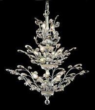 "Palace Irises 13 light 27"" Crystal Chandelier Light Fixture Chrome"
