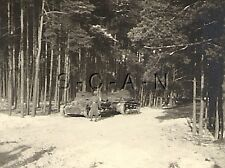 WWII German RP- Army Soldier- Panzer Tank- Armor- 2 x Tanks in Woods