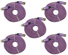 5 PACK lot shielded 3pin XLR audio mic microphone audio extension cable 50' foot