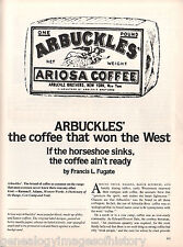 Arbuckle's - The Coffee That Won The West + Genealogy