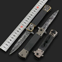 Dogleg Knife Assisted opening Liner Lock G10 Handle Hunting tool without Spring