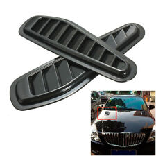 Universal Black Car Hood Air Intake Scoop Bonnet Vent Hood Vent Sticker Plastic