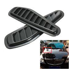 Universal Black Car Hood Air Intake Scoop Bonnet Vent Hood Vent Sticker Plastic