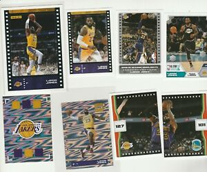 LEBRON JAMES 2019-20 STICKER / CARD COLLECTION LOT (8) FOIL SWIRLORAMA PUZZLE