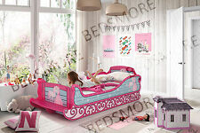 Pink princess car Bed with Sleigh desgin for girl and kids