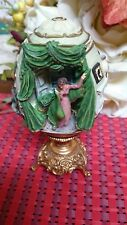 Franklin Mint Gwtw Gone With The Wind Scarlett'S Plan Egg Sculpture Gold Plated