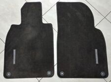 Porsche 911 OEM Carpet Front Floor Mats W/ Nubuk Surround Set of 2, Gray w/ Logo