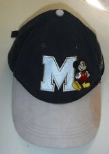 MICKEY MOUSE BALL CAP Dk.Blue & Tan Resort Merch. adjustable back Good Condition