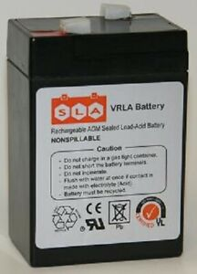6V 6 Volt 5Ah Rechargeable Sealed Lead Acid Battery Replaces 4.5Ah 4Ah
