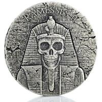 2017 2 oz Ramesses II AFTERLIFE Egyptian Silver Coin .999 Republic of Chad #A445