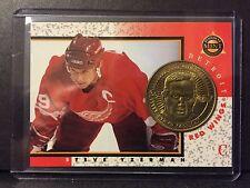 Steve Yzerman 1997-98 Pinnacle Mint Die-Cut Card with Brass Coin #5