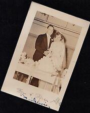 Old Vintage Antique Photograph Wedding Bride & Groom Cutting The Wedding Cake