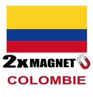 2 x COLOMBIE Drapeau Magnet 6x3 cm Aimant déco  magnétique frigo