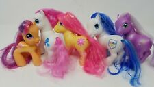 LOT 5 G3 Ponies MLP - Wisteria Denim Blue Blossomforth Summer Bloom Scootaloo