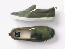 Gap Kids/Toddler Boys Nwt Size Us 12 Camo / Green Slip-On Sneakers Shoes Summer
