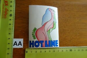 Alter Aufkleber Erotik TV-Serie 1994 ? HOT LINE Hotline