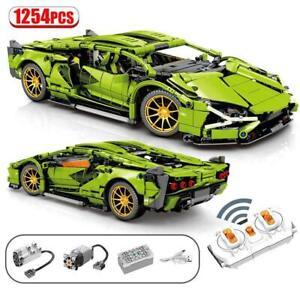 Building Blocks Technic Super Sports Car Racing MOC Simulation Model 1254PCS New