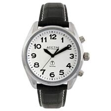 Acctim Men Radio Controlled Talking Leather Strap Watch