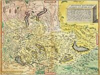 MAP ANTIQUE TSCHUDI 1538 UPSIDE DOWN SWITZERLAND REPLICA POSTER PRINT PAM1243