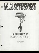 Orig 1980 Mariner 5 HP Outboard Motor/Engine Illustrated Parts List Catalog