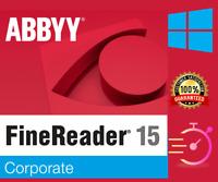 ABBYY FineReader 15 Corporate ✔OCR PDF EDITOR Scanner Converter ✔Latest Version