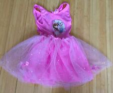 UK Disney Frozen Elsa & Anna Kids Girls Costume Fairytale Dress Up 5 - 6 Years