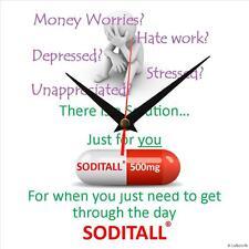 "Handmade ""Soditall"" novelty fun gift present wall clock"