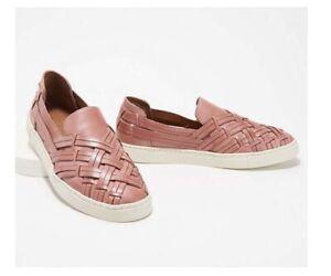 Frye Leather Slip-On Shoes Ivy Huarache Mauve