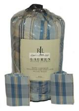 Ralph Lauren SUNDECK PLAID Down King Comforter & Shams Set New 1st Quality RARE