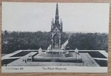 POSTCARD: LONDON, ALBERT MEMORIAL, DISTANT VIEW: c1914-18