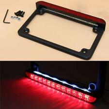 Motorcycle Frame Side Mount LED Tail Light Brake Running License Plate USA Style