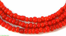 Maasai Whitehearts Red Old Venetian Trade Beads African
