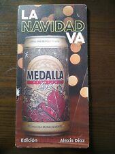 Puerto Rico Cerveza Medalla light beer Limited Edition Alexis Diaz Xmass Sign