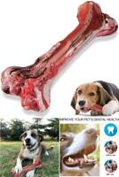 Dog Chew Toys for Aggressive Chewers Indestructible Beef Flavor Dog Bone Tough