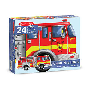 Melissa & Doug Giant Fire Truck Floor Puzzle 24pc