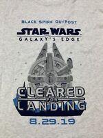 2019 Disney Star Wars Galaxy's Edge Opening Day Shirt XXXL 3XL Passholder NWT