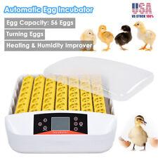 56 Eggs Incubator Digital Automatic Turner Hatcher Chicken Temperature Control