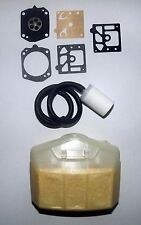 Tune up kit  Husqvarna 362 365 371 372 Air filter, carby kit, fuel line & filter
