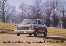 Morris 1800 & 2200 Original UK Sales Brochure Pub. No. 2999 Oct. 1973
