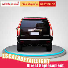 For Cadillac Escalade LED Taillights Assembly Dark / Red LED Rear Lamps 07-14