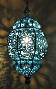 Moroccan Lantern Lamp Flower Turkish Lamp Colorful Light Ceiling Hanging Lamps