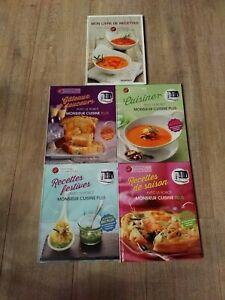 5 livres de recettes monsieur cuisine PLUS lidl  NEUF