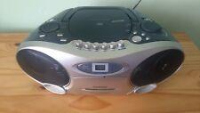 Tragbarer CD Player mit Kassette und Radio Strom oder Batterie Betrieben