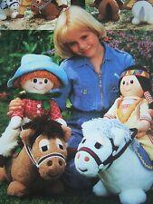Vintage SEWING PATTERN Jean Greenhowe WILD WEST SHOW Cowboy Indian Ponies Toy