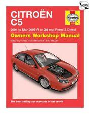 HAYNES Citroen C5 Petrol & Diesel (01 - Mar 08) Y to 08 Reg - Car Manual 4745A