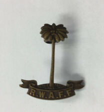 Vintage Royal West African Frontier Force Brass Cap Badge 3cm In Length