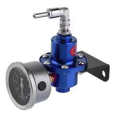 Universal Adjustable Car Auto Fuel Pressure Regulator with Oil Gauge Kit Blue